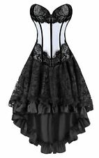 Kimring Women's 2 Pcs Vintage Gothic Victorian Brocade Overbust Corset Skirt ...