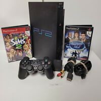 Sony Playstation 2 Fat (PS2) Model SCPH-39001 Complete Console Tested 2 Games