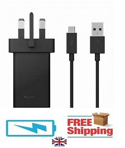 GENUINE SONY XPERIA MAINS FAST CHARGER + TYPE-C USB CABLE FOR XPERIA L2 10 XZ