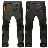 Men's Waterproof Outdoor Winter Thermal Pants Hiking Skiing Windproof Trousers