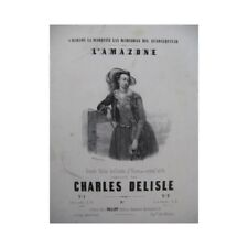 DELISLE Charles L'Amazone Piano ca1845 partition sheet music score