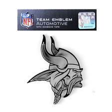 Promark New NFL Minnesota Vikings Plastic Chrome 3-D Auto Emblem Sticker Decal