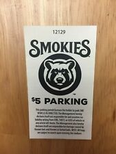 2018 Tennessee Smokies Baseball Parking Stub AA Chicago Cubs Affiliate
