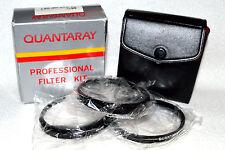 Quantaray 55 mm NEW Close-Up Lens Set (+1,+2,+4) with Case/Box Japan (N-71)