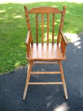 Vintage 1970's Wooden Child Size or Youth Size High Chair - Original Owner