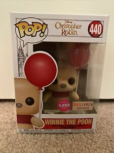 Funko Pop Christopher Robin Winnie the Pooh #440 Flocked Lunch Box Exclusive