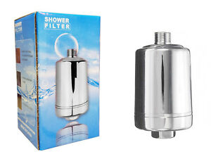 Finerfilters Compact Shower Filter with Carbon & KDF Media - Chrome Finish