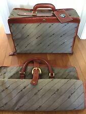 Vintage Alfa Romeo Luggage Suitcase & Garment Bag