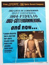 DON CARLO VERDI 1966 promo ADVERT GEORG SOLTI LONDON RECORDS
