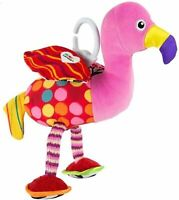 LAMAZE - Flapping Fiona Flamingo  - Soft Clip on Pram / Baby Toy - 0+ months