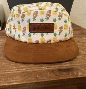 Boy's Size 8-24 Month Small Jack & Winn Hat Cap Brown White Pineapple Yellow