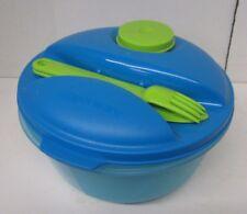 Tupperware Salad On the Go Set Knife Fork Bowl Dressing Lunch