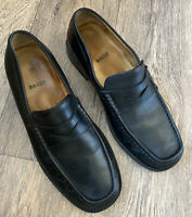 Bally penny Loafers Black Size 9 Uk All Leather Made In Italy