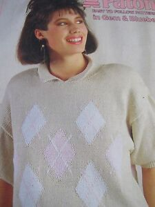PATONS KNITTING PATTERN BOOK,BLUEBELL/GEM,NO 818,4 DES,LADIES,GOOD COND