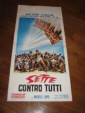 LOCANDINA,Sette contro tutti,Michele Lupo,Roger Browne, Al Norton,Havilland,1965