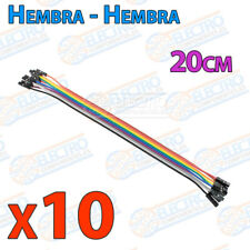 10 Cables 20cm Hembra Hembra jumper dupont 2,54 arduino protoboar cable
