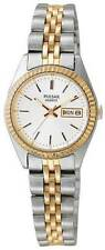 Ladies Pulsar Quartz Gold Silver Stainless Silver Dial Day Date Watch PXX006