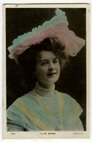 c 1905 Theater British Edwardian BILLIE BURKE  tinted photo postcard
