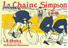 """""""La Chaine Simpson"""" by Henri de Toulouse Lautrec  Limited ed. Lithograph"""