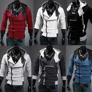 Men's Casual Slim Fit Hooded Coat Jacket Tops Sweatshirts Overcoat Outwear M-6XL
