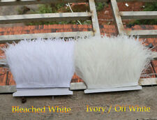 34 Colours Quality Ostrich Feather Trimming Fringe For Millinery Craft Dress 1 M