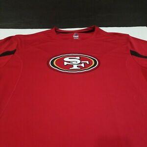 SAN FRANCISCO 49ERS MEN SHIRT XL RED NFL FOOTBALL COOL BASE T-SHIRT MAJESTIC