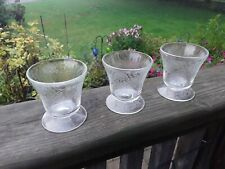 Vintage Depression Clear Glass Sherbert,Sundae,Ice Cream Cups.3pcs. Collectibles