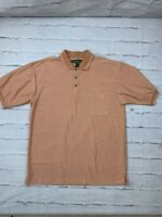 NEW Knights Of Round Table Mens Golf Shirt Size XL Short Sleeves Collared Orange