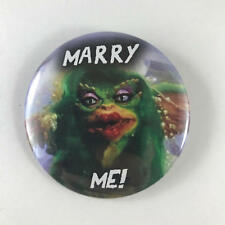 "Gremlins 2.25"" Button Pin Marry Me Bride Comedy Horror Classic Joe Dante"