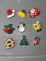 Christmas,Santa,tree & More Lot Of 9 Shoe Charms,Bracelet,Lace Adapter Charms