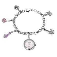 MADISON New York Damenuhr - Bettelarmband mit 6 Charms, NewStyle1, NEU+OVP