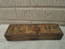 antique wood pencil case