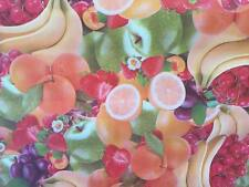 Tovaglia di plastica per tavolo cm 140x200 -50%25 color rosso verde con frutta
