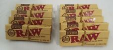 Lot of 9 Packs Raw Classic Connoisseur 1 1/4 Rolling Papers Tips 50 Leaves each