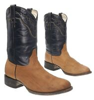 COWTOWN Cowboy Boots 9.5 EE Mens Exotic Shrunk Shoulder Leather WESTERN Boots
