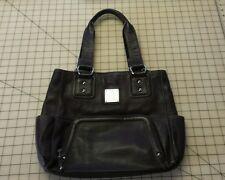 Tignanello Dark Chocolate Brown Pebbled Leather Satchel Handbag