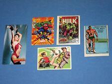 5 Vtg Comics Trading Cards 1967 Marvel Submariner Sticker 1966 Batman