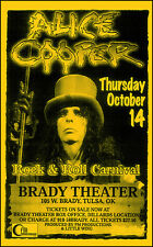 ALICE COOPER Original 1999 Tulsa Oklahoma Brady Theater Concert Poster