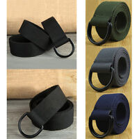 Military Canvas Web Belt Double D-ring Buckle Men Women Unisex  Fashion Gift