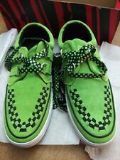 RARE! TUK CREEPERS Neon Green Suede & Black Checker Suede Sneakers N.I.B!