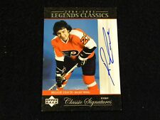 2004-05 Upper Deck Legends Classics Signatures Reggie Leach Auto - Flyers