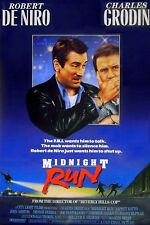 MIDNIGHT RUN 1988 Robert De Niro, Charles Grodin, Yaphet Kotto UK 1-SHEET POSTER