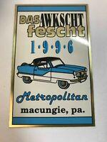 Das Awkscht Fescht Macungie Pa 1996 Car Club Show Vintage Plaque