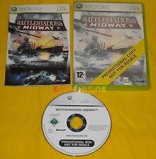 BATTLESTATIONS MIDWAY XBOX 360 Versione Inglese Promo Battlestation ••• COMPLETO