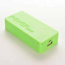 5600mAh 5V USB Power Bank Case 18650 Battery Charger green CASE For Cell Phone