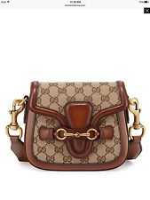 NWT Gucci $1650 Lady Web Small GG Guccissima Canvas Crossbody Shoulder Bag,Beige