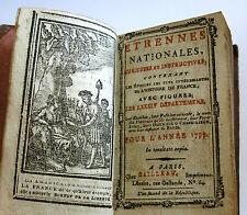 LE TRESOR DES ALMANACHS ETRENNES NATIONALES 1793, cailleau,an 2 de la republique