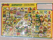 "Mexican Serpientes Y Escaleras Authentic original 6 Games 3 Boards Bingo 18""x12"""