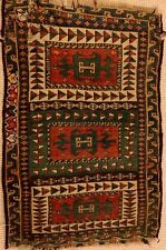 AN AUTHENTIC CAUCASIAN RUG OR TURKISH FRAGMENT