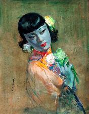 Orient Mystic A2+ by Cedric Calvert Beal Tretchikoff Era Quality Canvas Print
